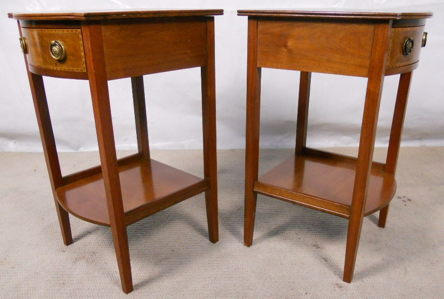 Pair mahogany lamp tables stands sold aloadofball Image collections
